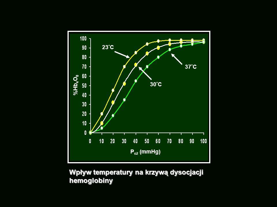 Wpływ temperatury na krzywą dysocjacji hemoglobiny