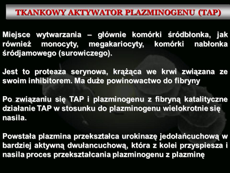 TKANKOWY AKTYWATOR PLAZMINOGENU (TAP)