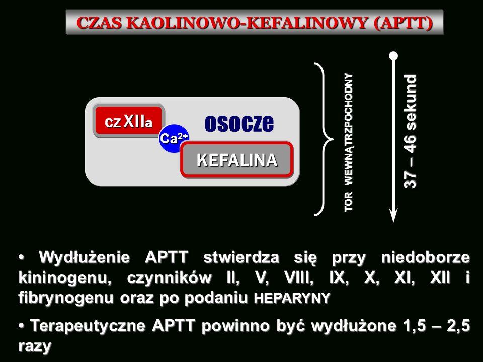 CZAS KAOLINOWO-KEFALINOWY (APTT)