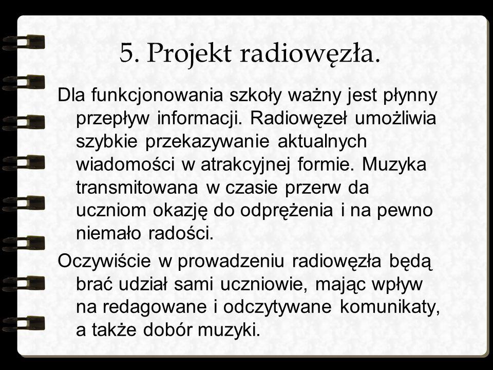 5. Projekt radiowęzła.
