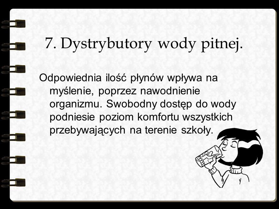 7. Dystrybutory wody pitnej.