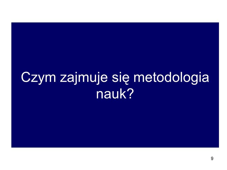 Czym zajmuje się metodologia nauk