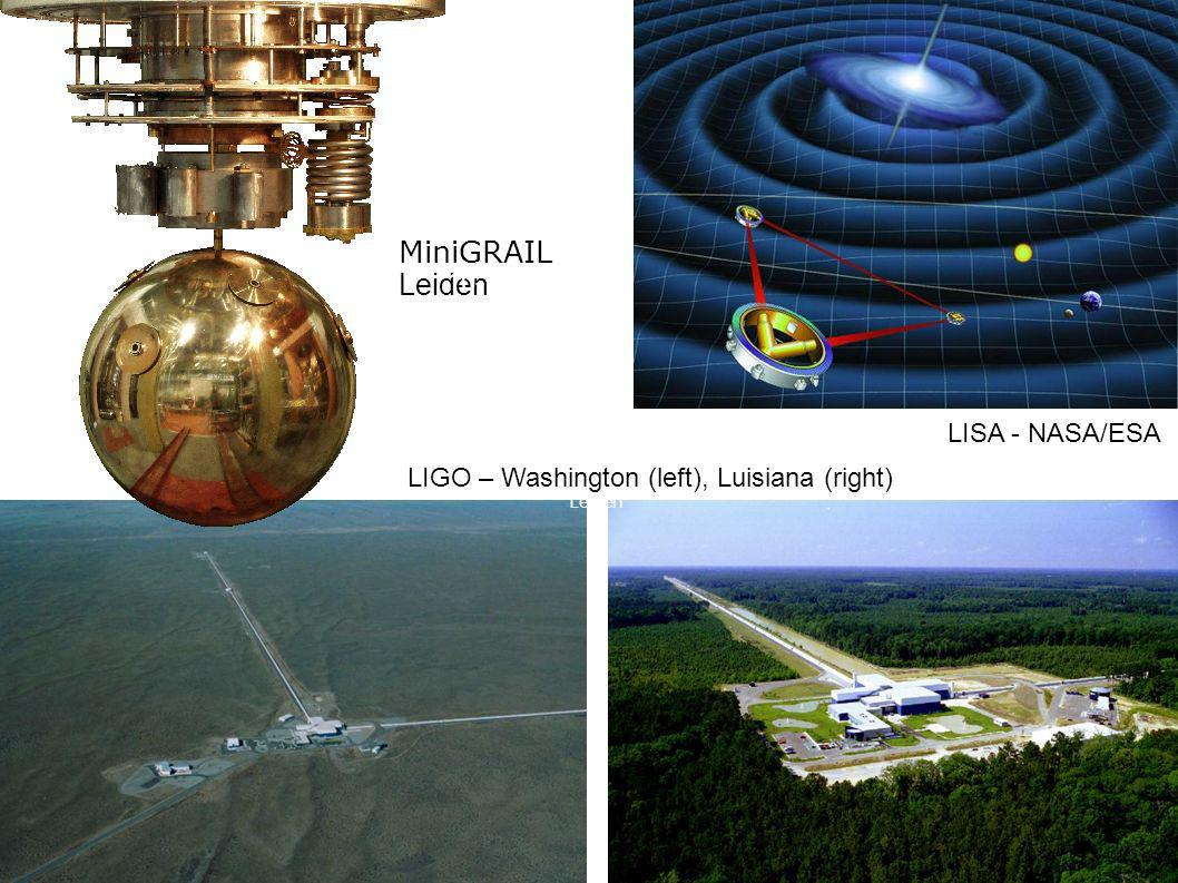 MiniGRAIL Leiden 10-10-26 LISA - NASA/ESA