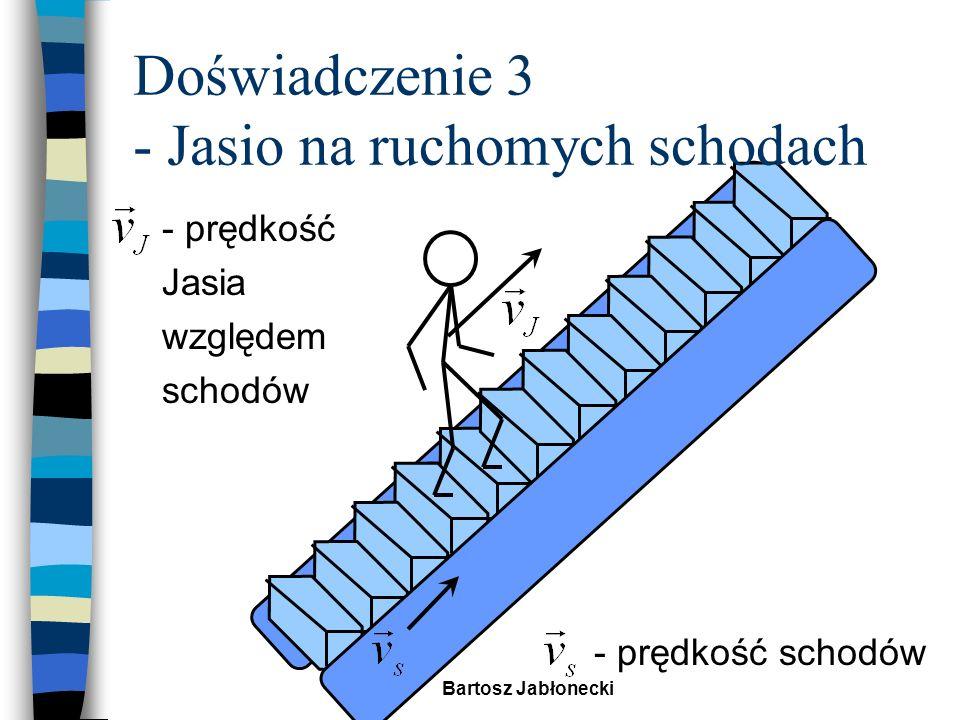 Doświadczenie 3 - Jasio na ruchomych schodach