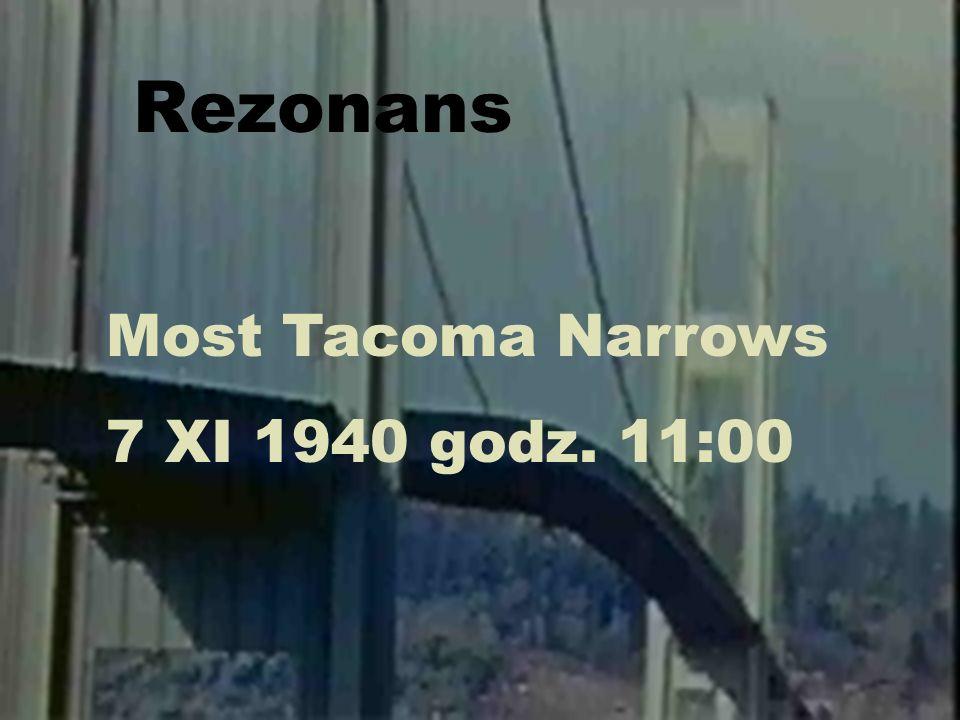 Rezonans Most Tacoma Narrows 7 XI 1940 godz. 11:00 Fizyka dźwięku