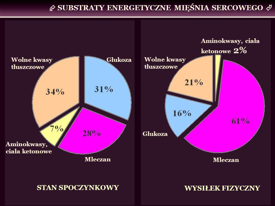  SUBSTRATY ENERGETYCZNE MIĘŚNIA SERCOWEGO 