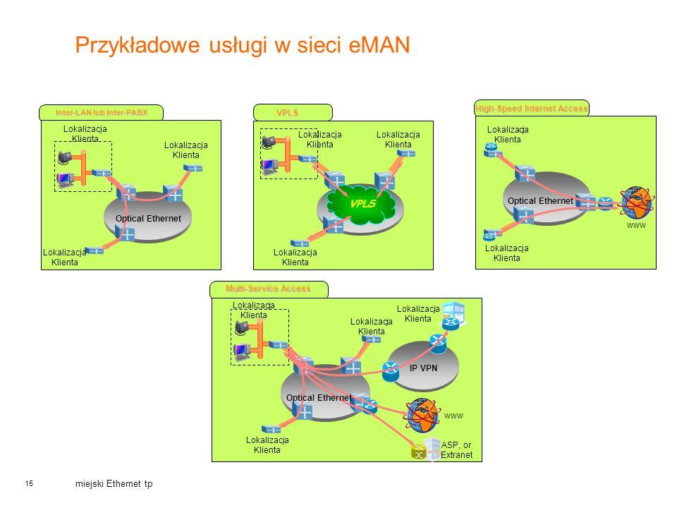 Przykładowe usługi w sieci eMAN