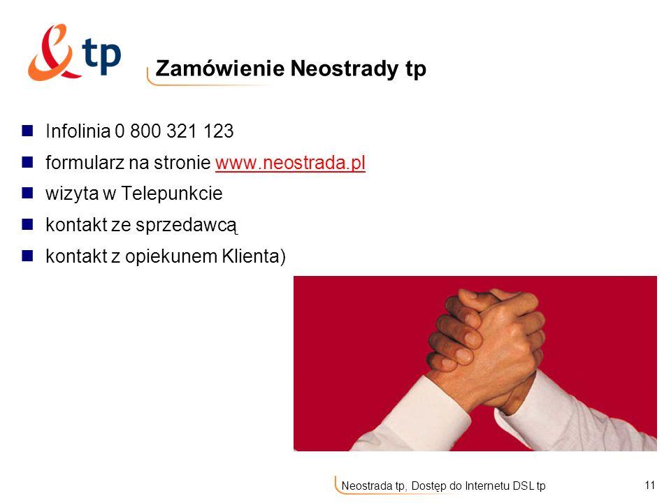 Zamówienie Neostrady tp