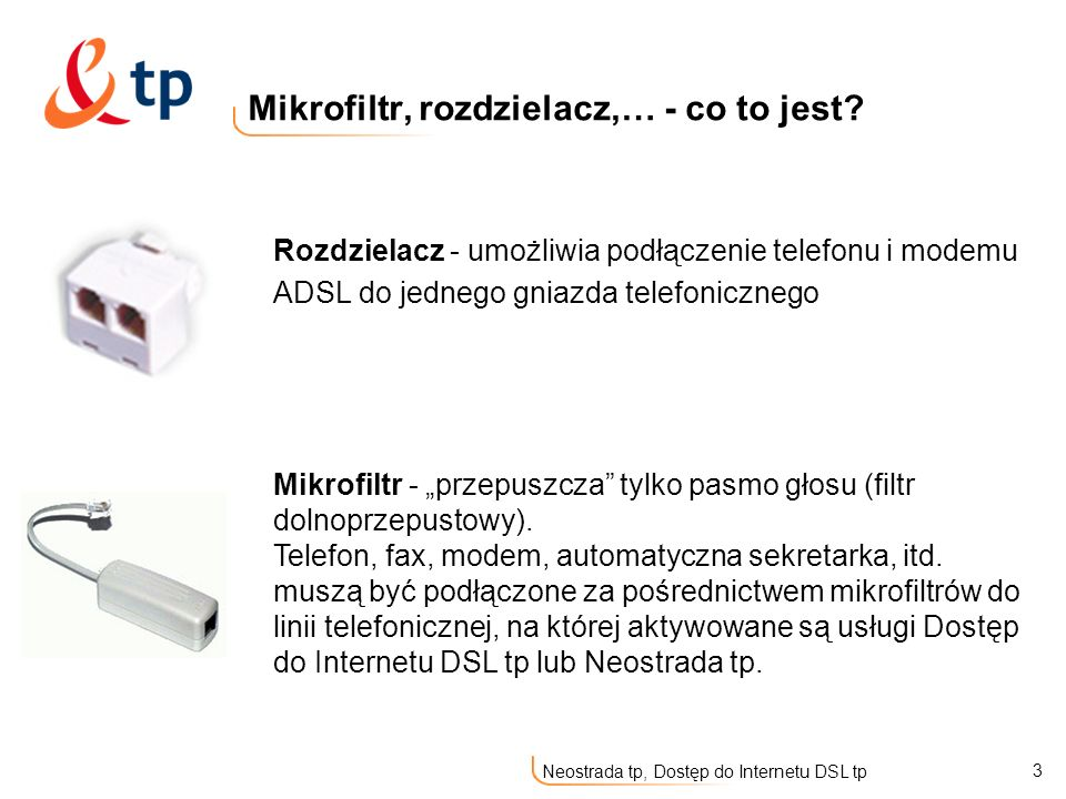 Mikrofiltr, rozdzielacz,… - co to jest