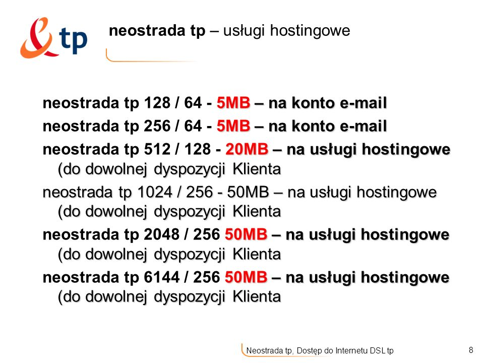 neostrada tp – usługi hostingowe