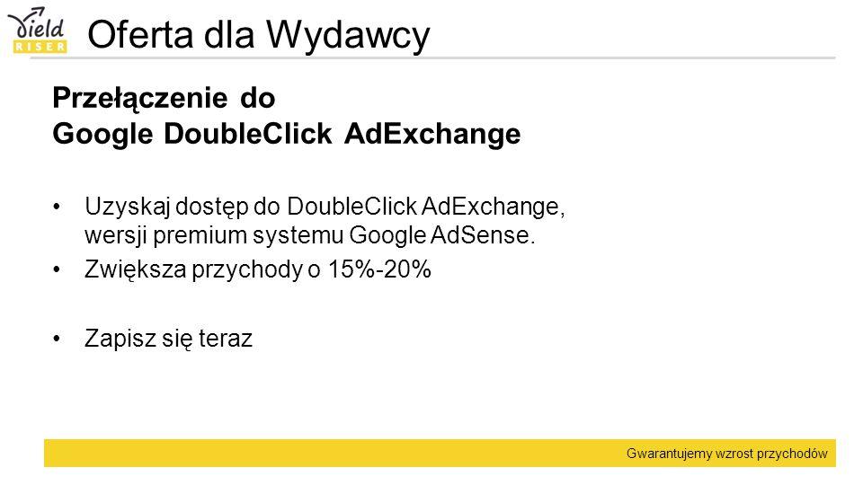Oferta dla Wydawcy Przełączenie do Google DoubleClick AdExchange