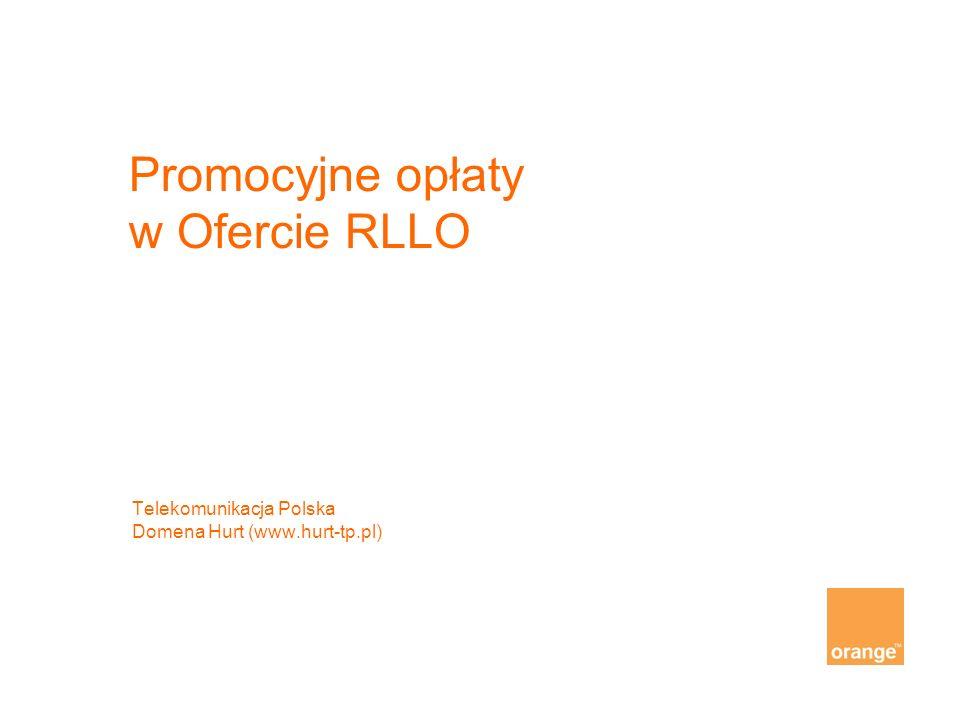 Promocyjne opłaty w Ofercie RLLO