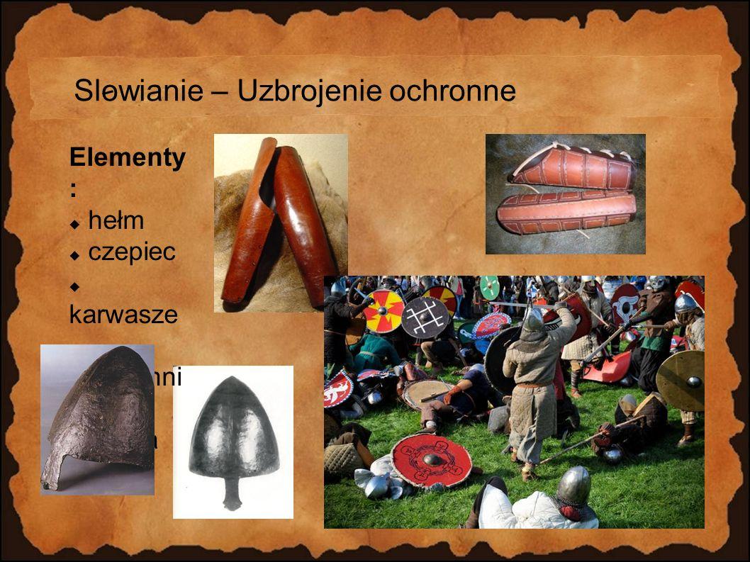 Slowianie – Uzbrojenie ochronne