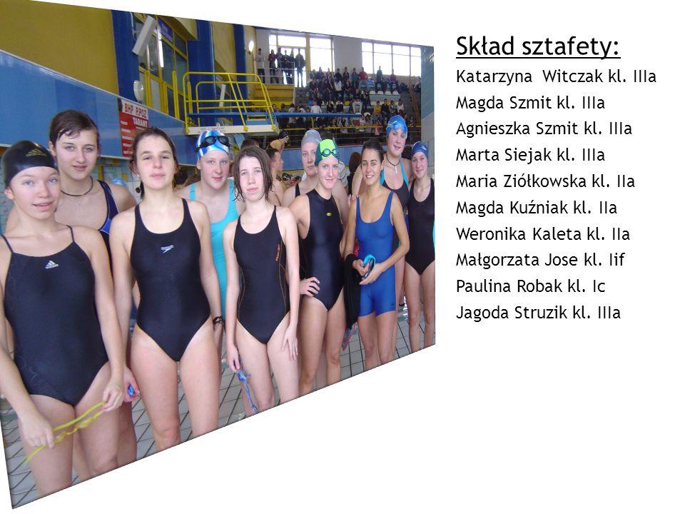 Skład sztafety: Katarzyna Witczak kl. IIIa Magda Szmit kl. IIIa