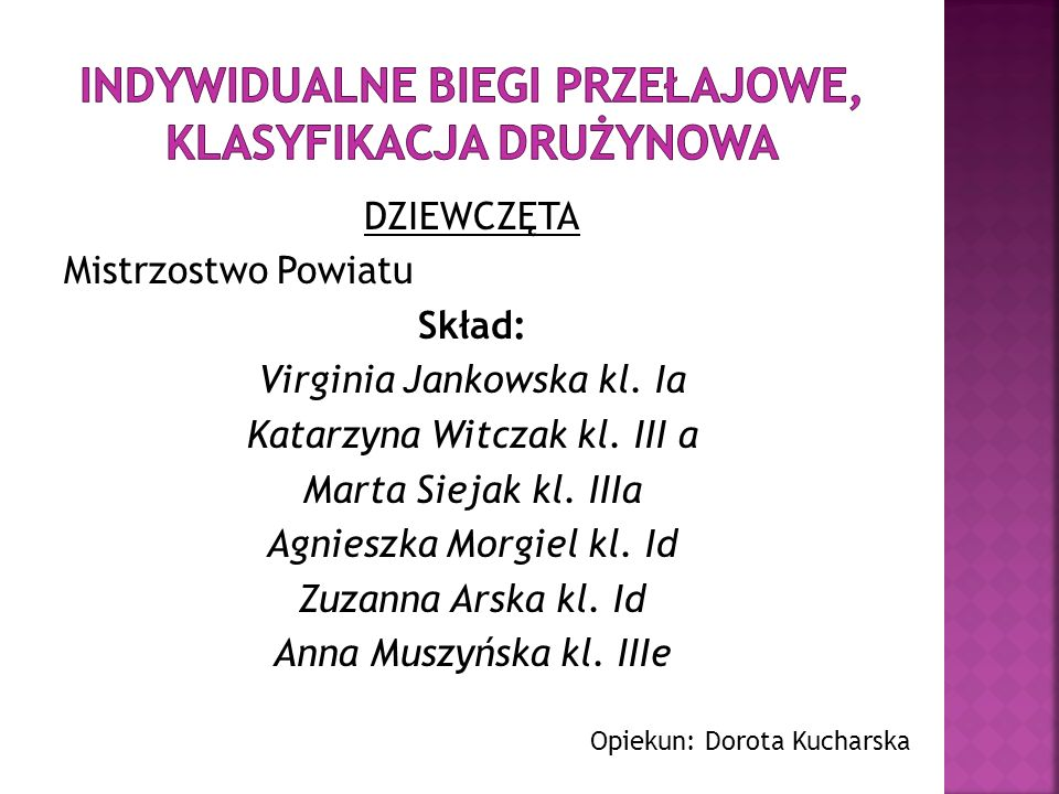 Indywidualne Biegi Przełajowe, klasyfikacja drużynowa