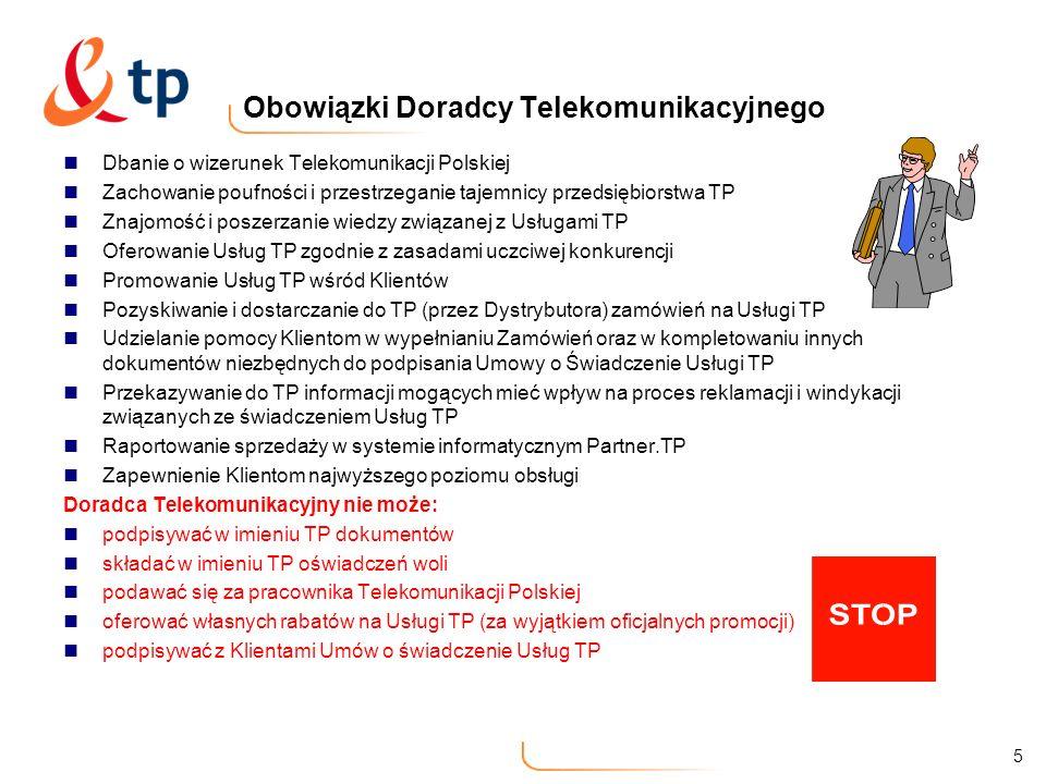 Obowiązki Doradcy Telekomunikacyjnego
