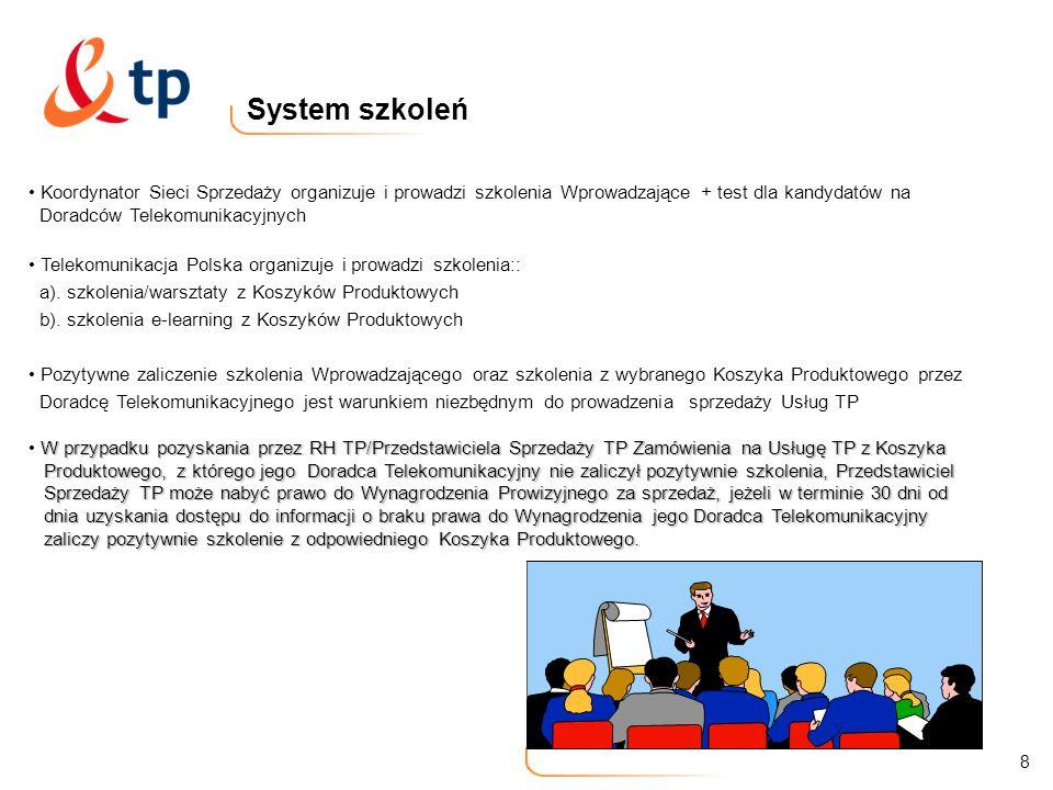 System szkoleń Koordynator Sieci Sprzedaży organizuje i prowadzi szkolenia Wprowadzające + test dla kandydatów na.