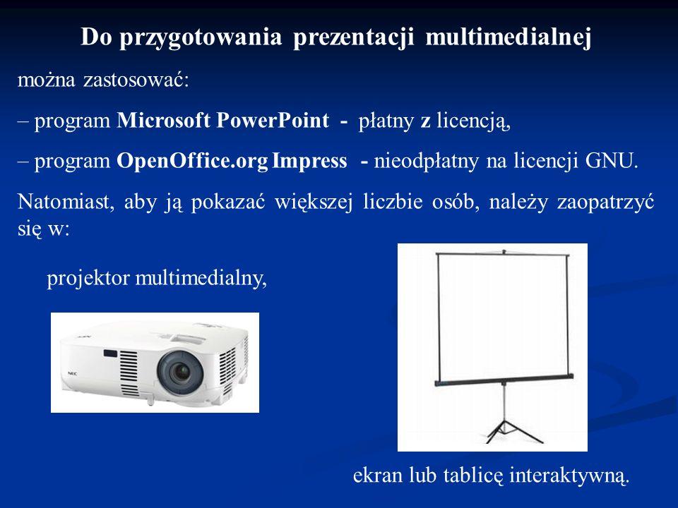 Do przygotowania prezentacji multimedialnej