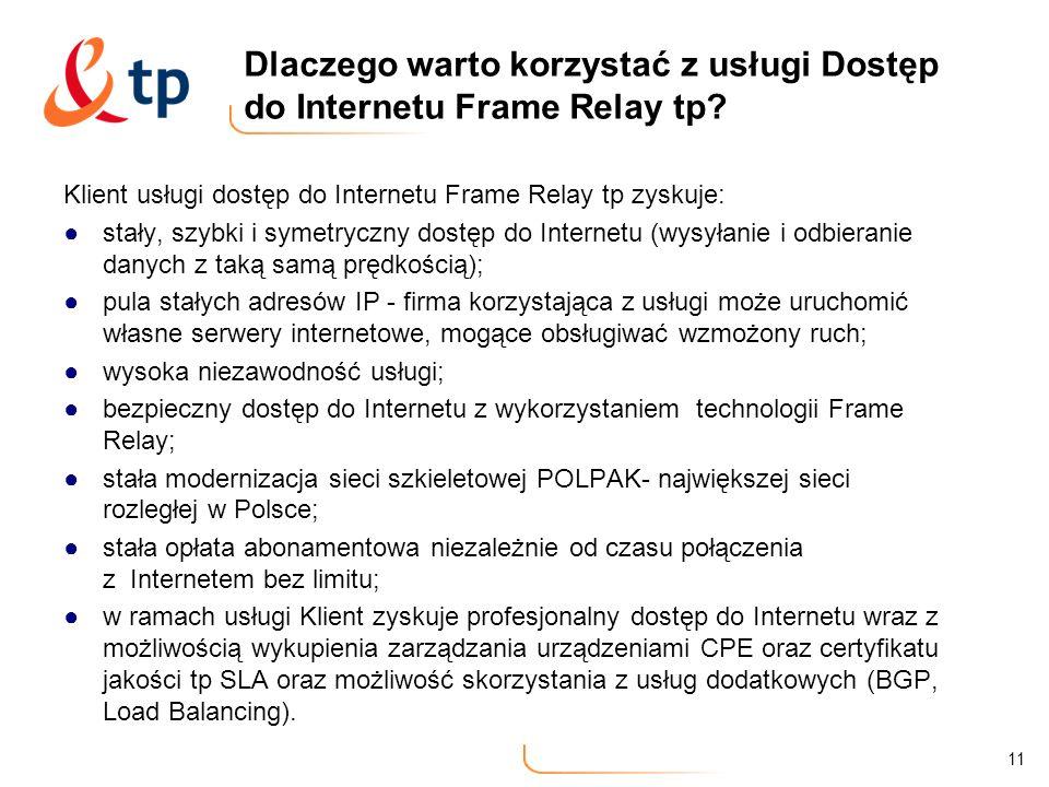 Dlaczego warto korzystać z usługi Dostęp do Internetu Frame Relay tp