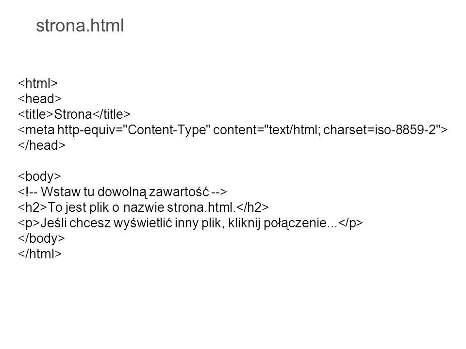 strona.html <html> <head>