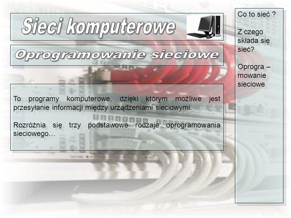 Oprogramowanie sieciowe