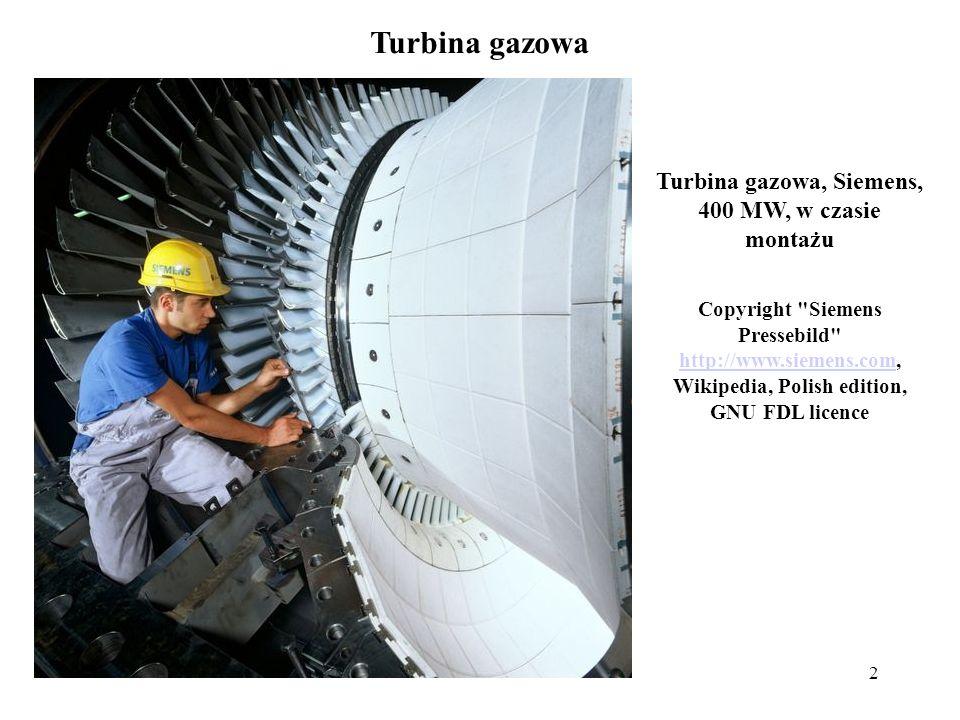 Turbina gazowa, Siemens, 400 MW, w czasie montażu