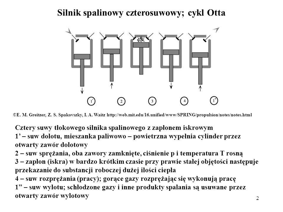 Silnik spalinowy czterosuwowy; cykl Otta