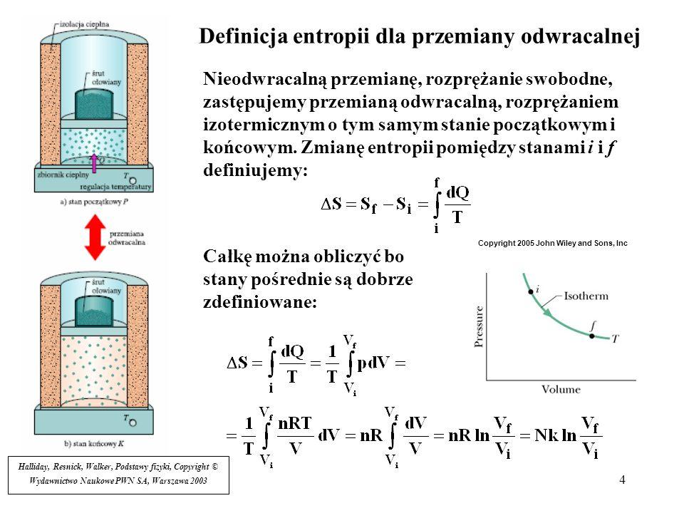 Definicja entropii dla przemiany odwracalnej