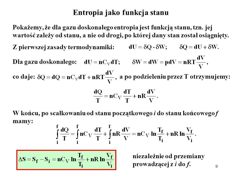 Entropia jako funkcja stanu