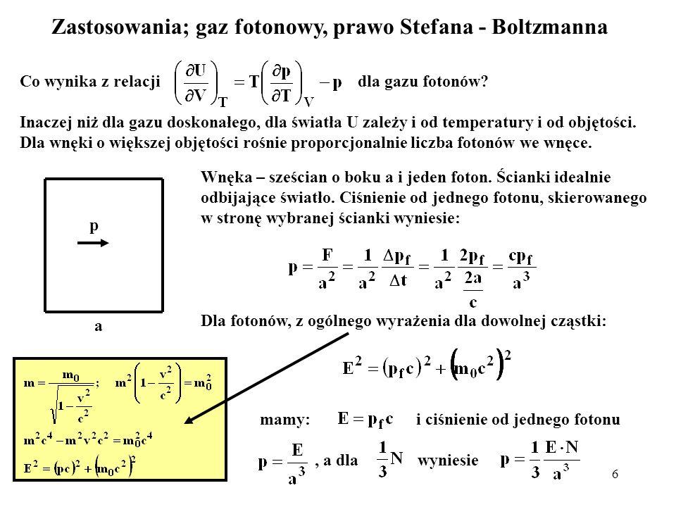 Zastosowania; gaz fotonowy, prawo Stefana - Boltzmanna