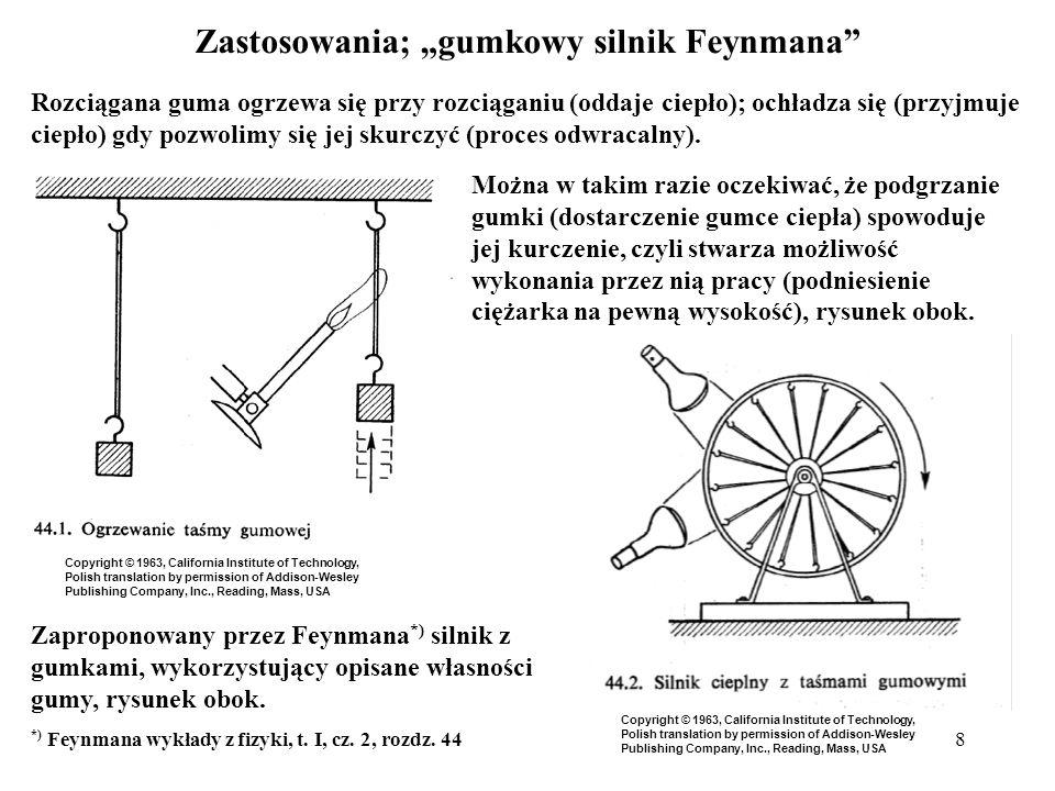 """Zastosowania; """"gumkowy silnik Feynmana"""