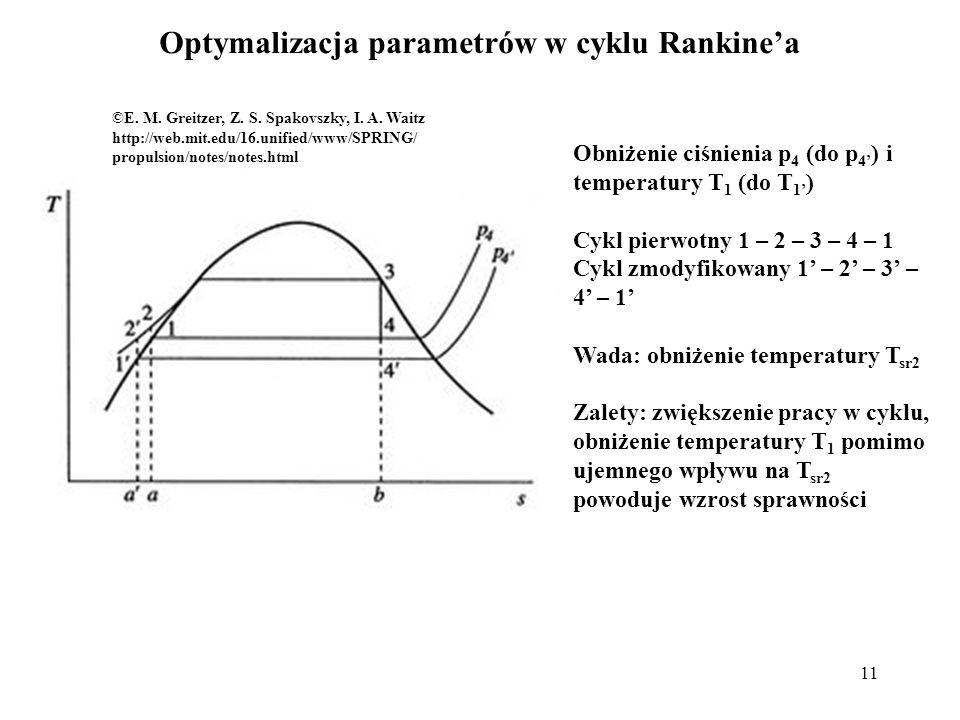 Optymalizacja parametrów w cyklu Rankine'a