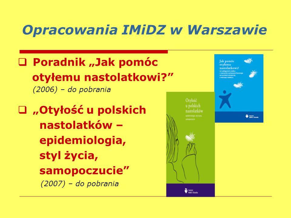Opracowania IMiDZ w Warszawie