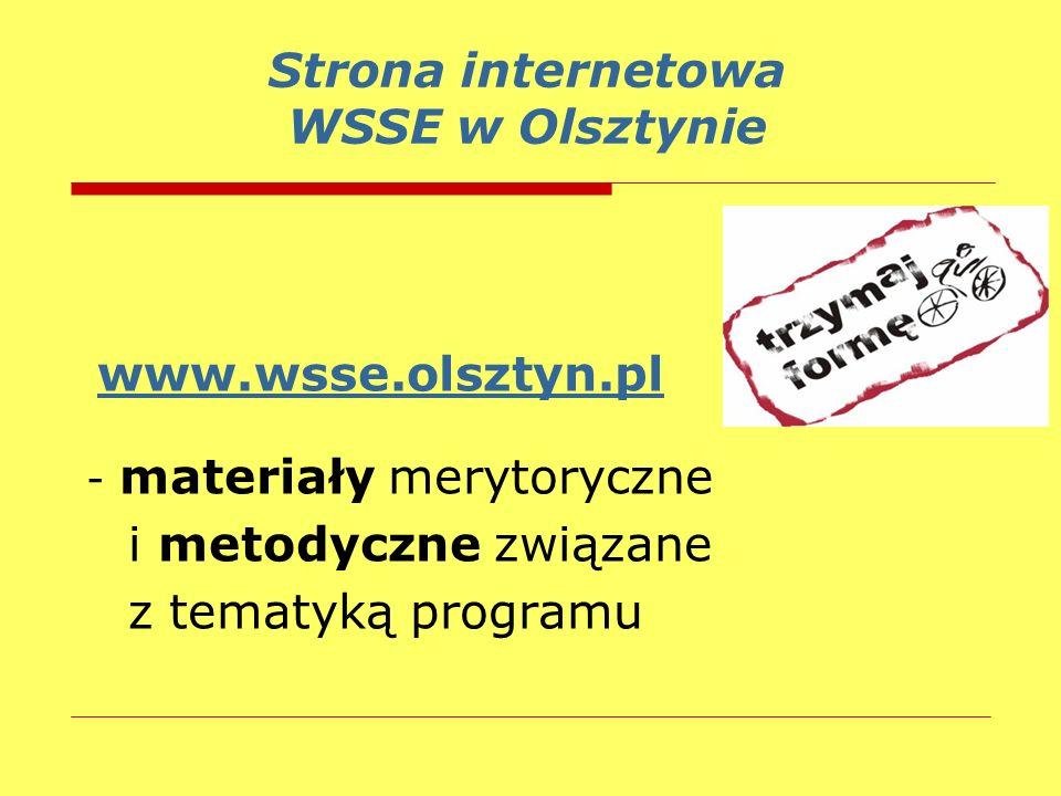 Strona internetowa WSSE w Olsztynie