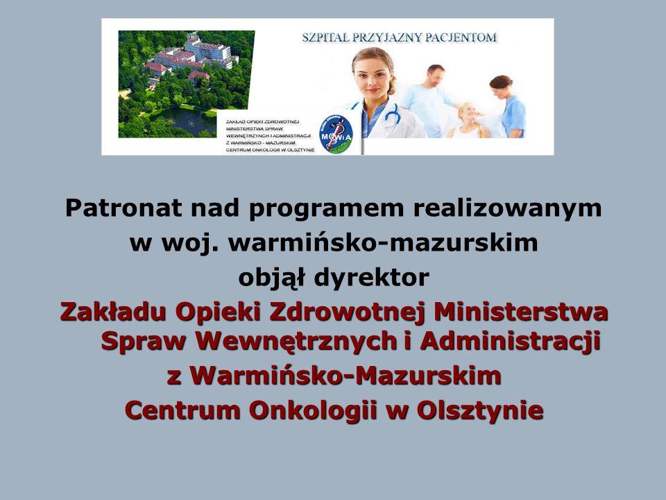 Patronat nad programem realizowanym w woj. warmińsko-mazurskim