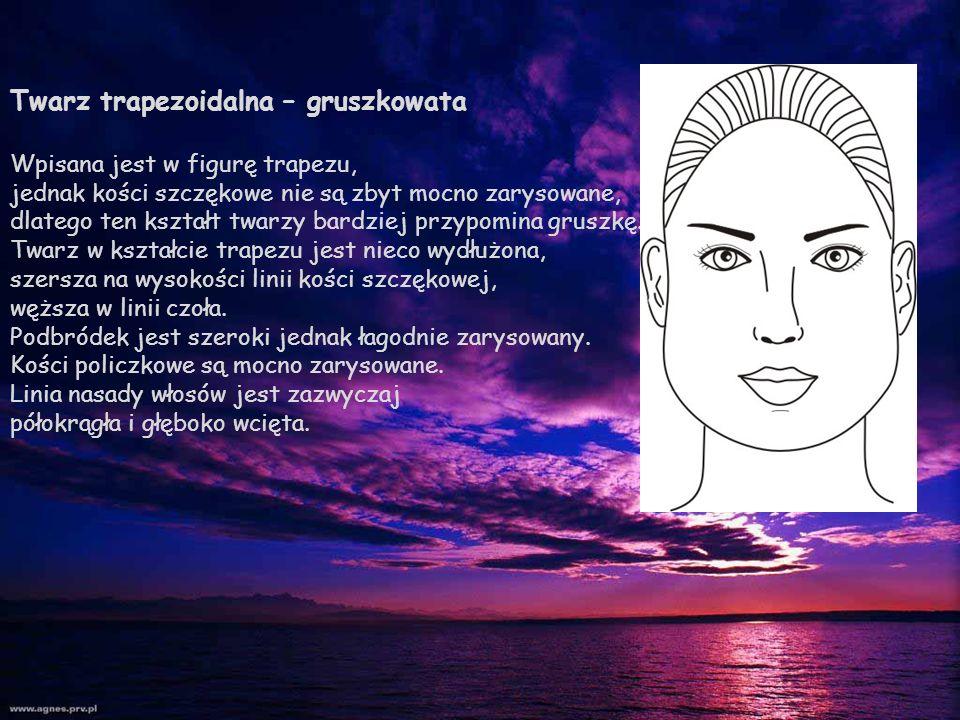 Twarz trapezoidalna – gruszkowata