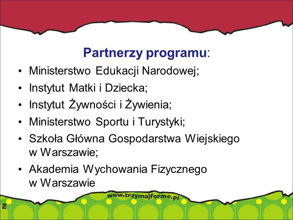 Partnerzy programu: Ministerstwo Edukacji Narodowej;