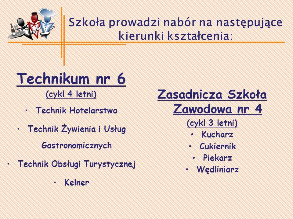 Szkoła prowadzi nabór na następujące kierunki kształcenia: