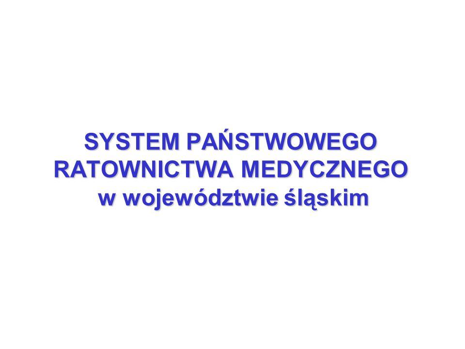 SYSTEM PAŃSTWOWEGO RATOWNICTWA MEDYCZNEGO w województwie śląskim