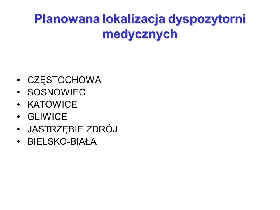 Planowana lokalizacja dyspozytorni medycznych