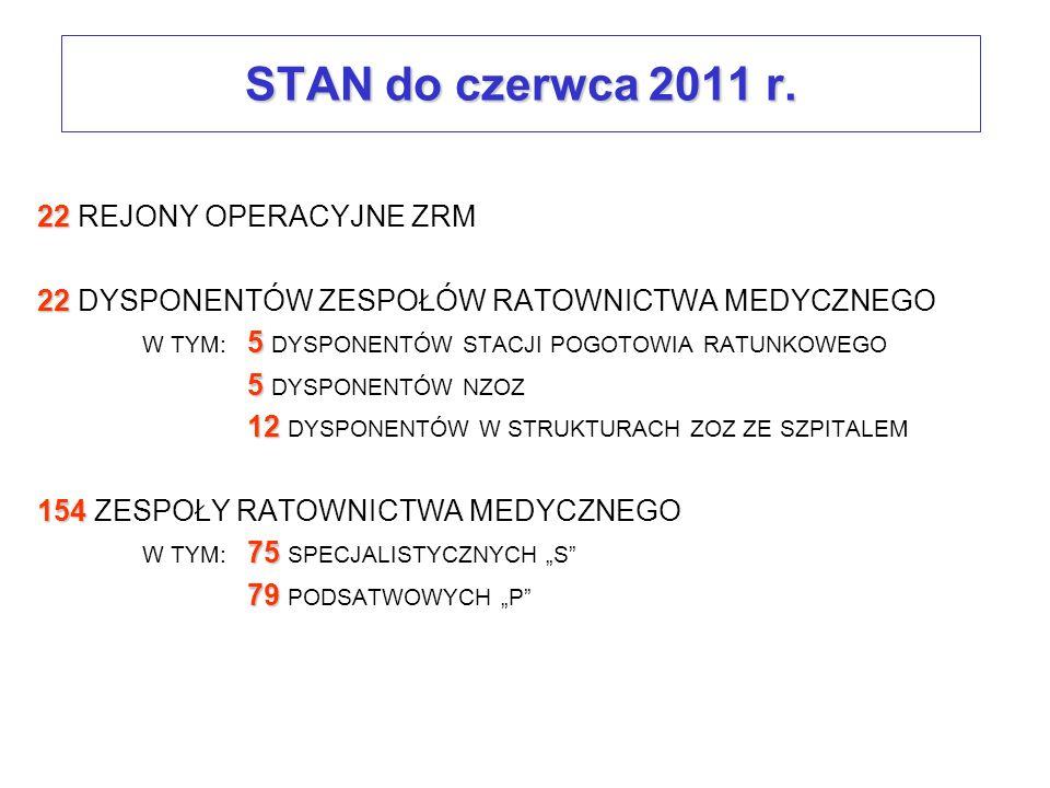 STAN do czerwca 2011 r. 22 REJONY OPERACYJNE ZRM
