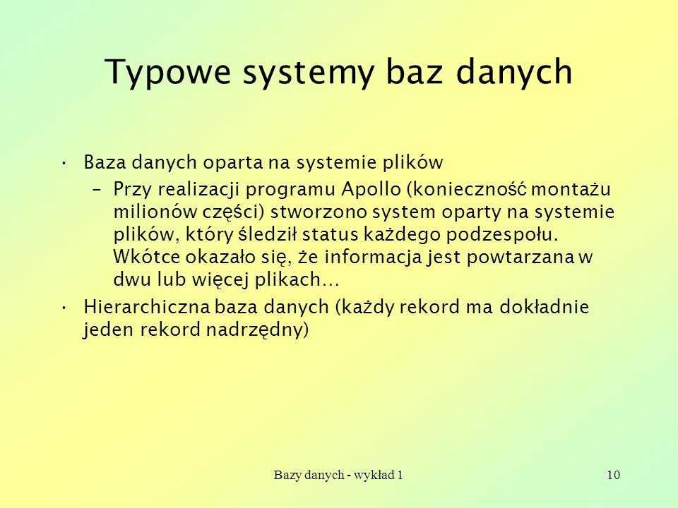 Typowe systemy baz danych