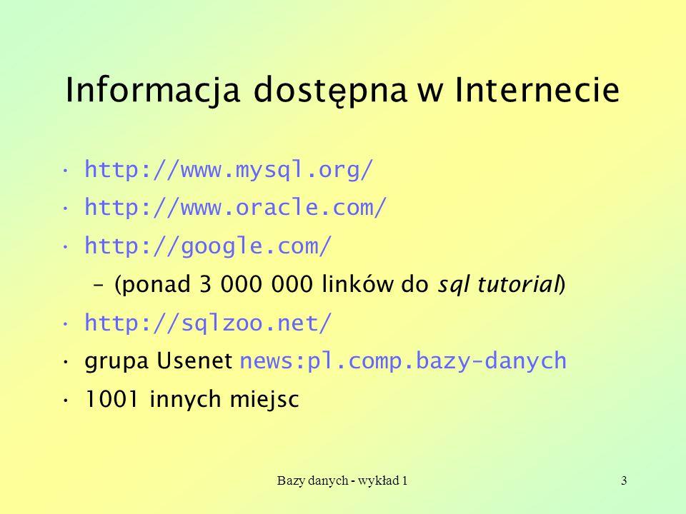 Informacja dostępna w Internecie