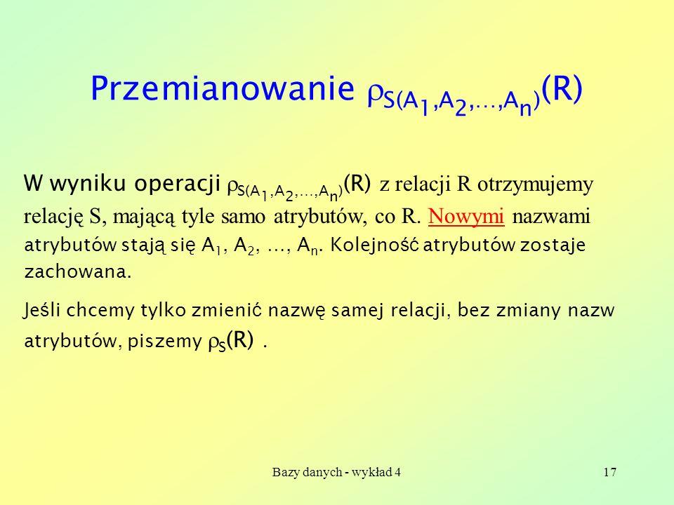 Przemianowanie S(A1,A2,…,An)(R)