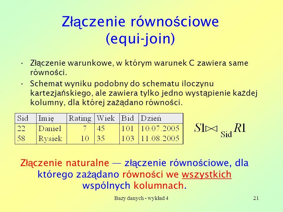 Złączenie równościowe (equi-join)