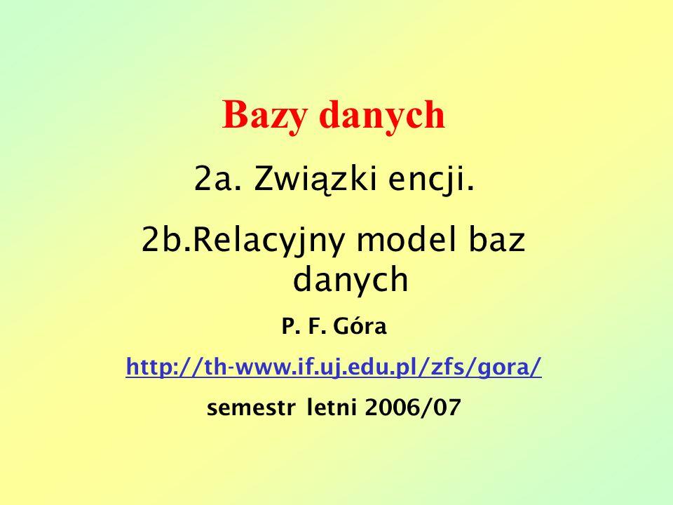 2b.Relacyjny model baz danych