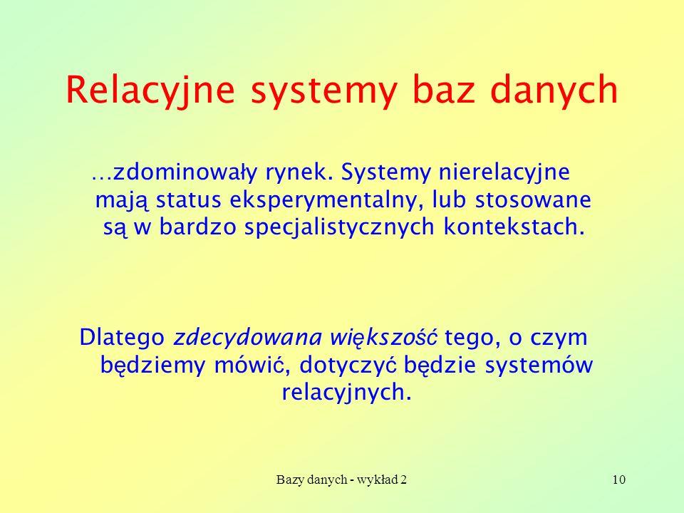 Relacyjne systemy baz danych