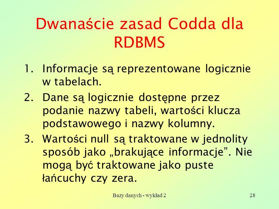 Dwanaście zasad Codda dla RDBMS