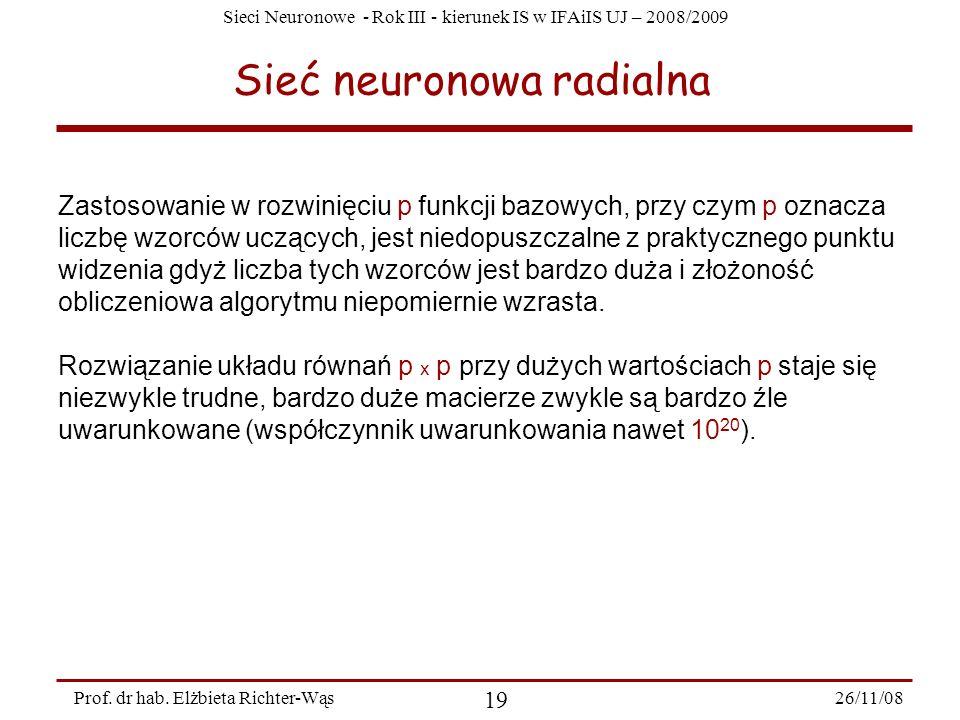 Sieć neuronowa radialna