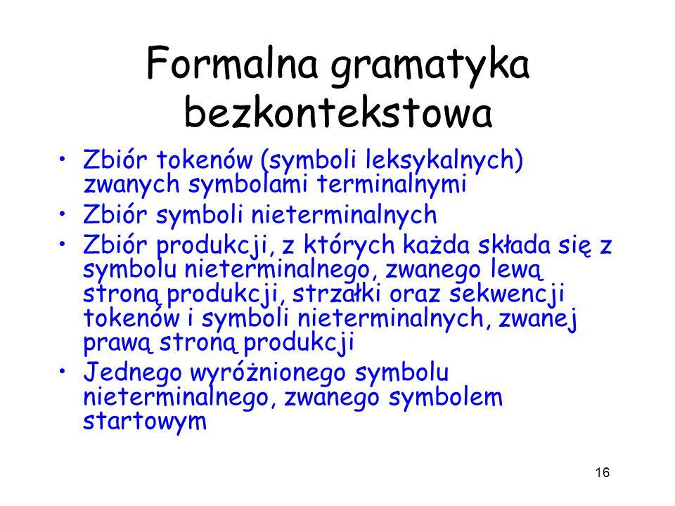 Formalna gramatyka bezkontekstowa